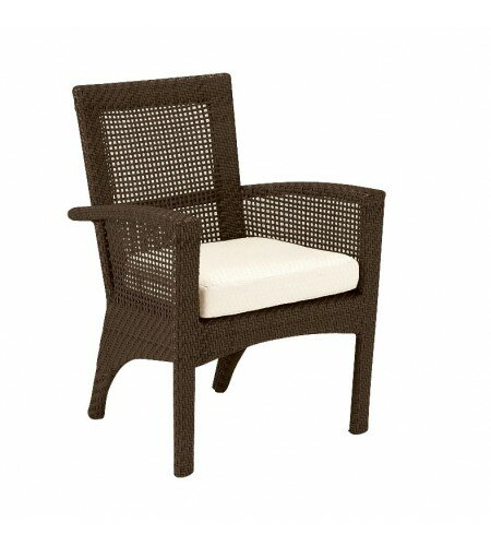 Trinidad Patio Arm Dining Chair with Cushion by Woodard
