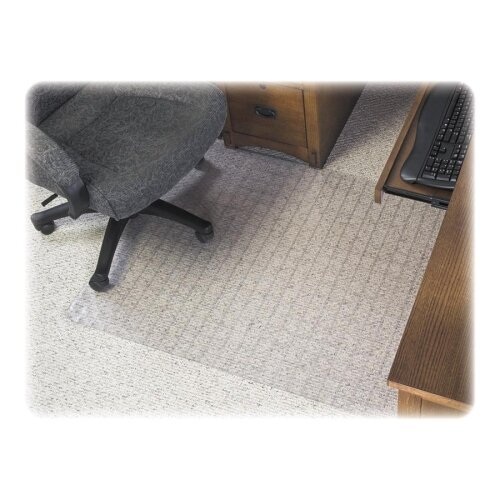 Checkered Medium Pile Carpet Beveled Edge Chair Mat by Deflect-O Corporation