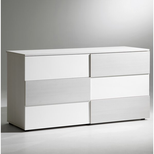 Sharon 6 Drawer Double Dresser by YumanMod