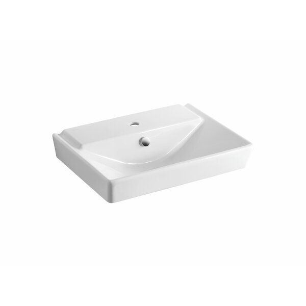 Reve Ceramic 24 Pedestal Bathroom Sink with Overflow by Kohler