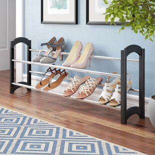 Compare & Buy 2-Tier Extendable and Stackable Shoe Rack By Rebrilliant