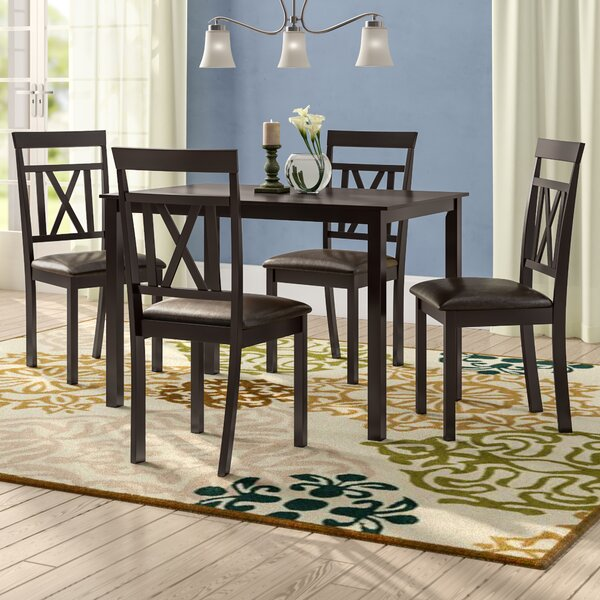 Whitbey Modern and Contemporary 5 Piece Breakfast Nook Dining Set by Red Barrel Studio