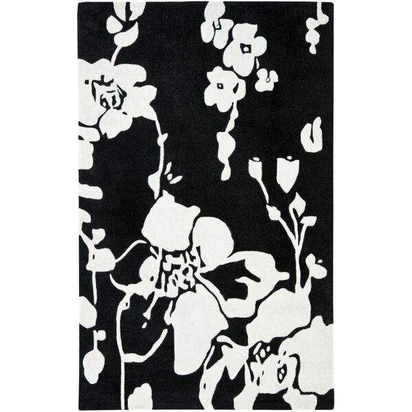 Modern Art Black/Ivory Rug by Safavieh