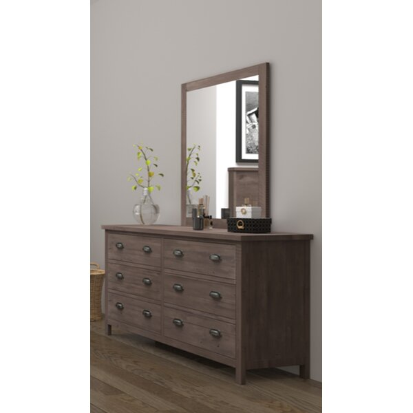 Barna 6 Drawer Double Dresser with Mirror by Gracie Oaks