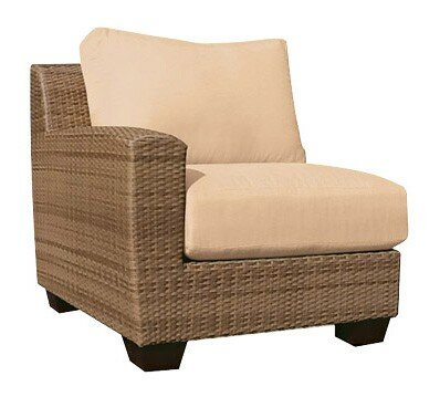Saddleback Left Arm Sectional Piece with Cushions by Woodard