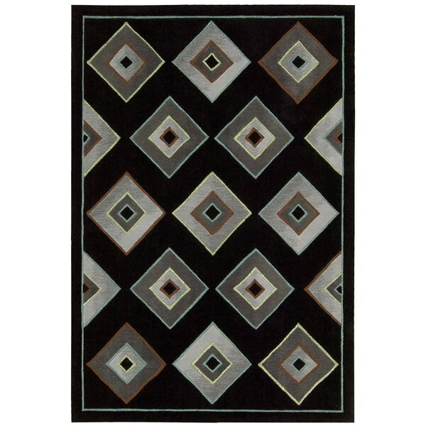 Palisades Retrotimes Black Area Rug by Kathy Ireland Home