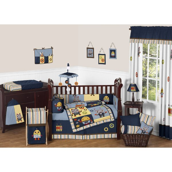 Robot 9 Piece Crib Bedding Set by Sweet Jojo Designs