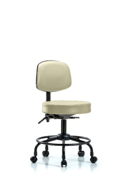 Caspian Round Tube Base Height Adjustable Lab Stool by Symple Stuff