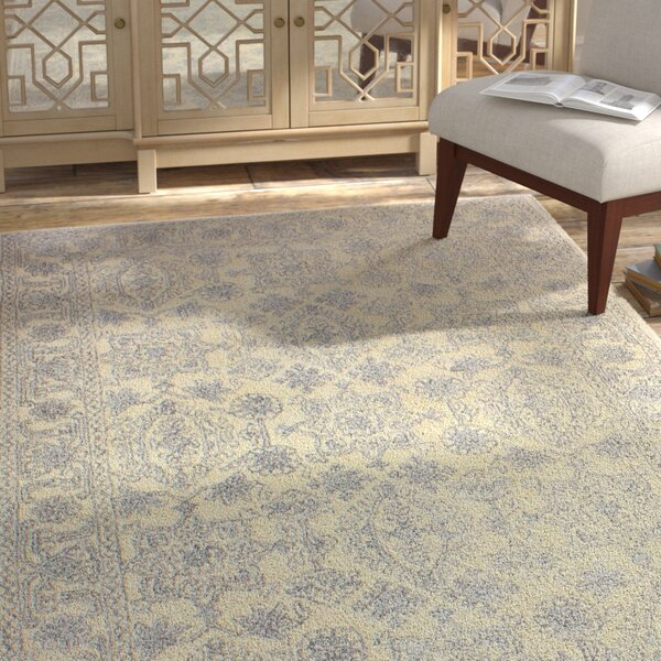 Flori Hand-Tufted Wool Ivory Rug by Bungalow Rose