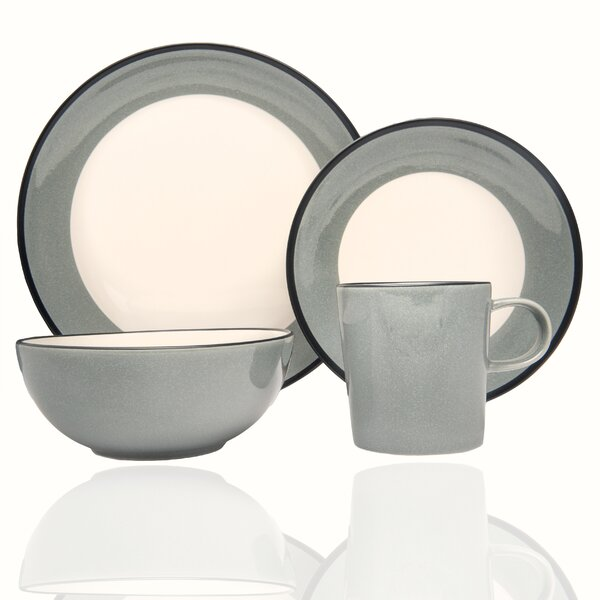 Milano Celadon 16 Piece Dinnerware Set, Service for 4 by Red Vanilla