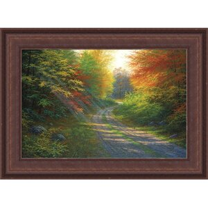 'October Light' by Charles White Framed Wall Art on Wrapped Canvas by Hadley House Co