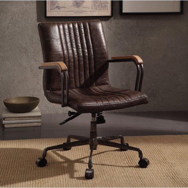 Demarest Genuine Leather Office Chair by 17 Stories