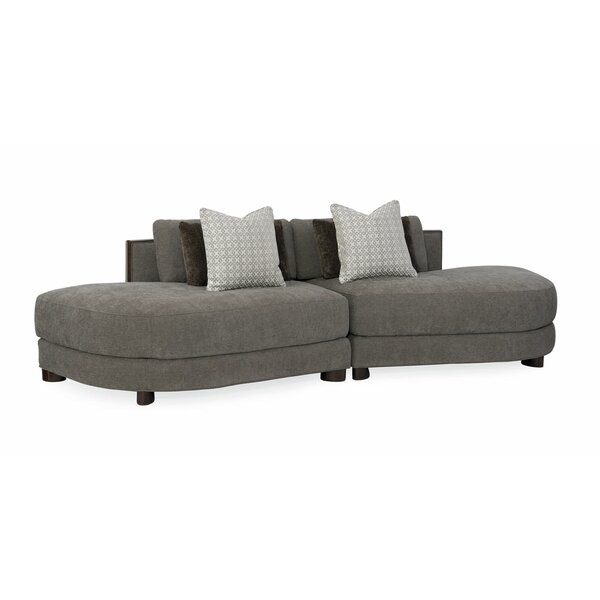 Modern Symmetrical Streamline Commodore Sectional by Caracole Modern Caracole Modern