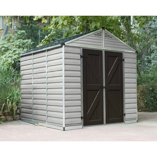 SkyLight™ 7 ft. 9 in. W x 7 ft. 6 in. D Plastic Storage Shed by Palram
