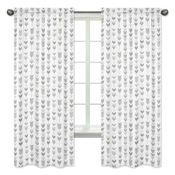 Mod Arrow Rod Pocket Window Curtain Panels (Set of 2) by Sweet Jojo Designs