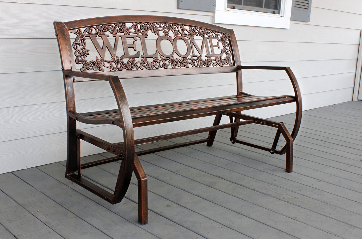LeighCountry Welcome Double Glider Bench & Reviews