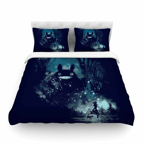 The Big Friend Fantasy by Frederic Levy-Hadida Featherweight Duvet Cover by East Urban Home