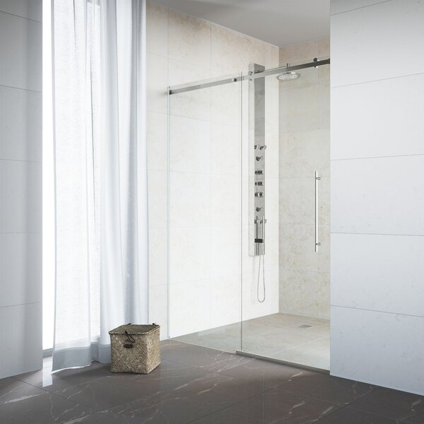 Luca 31.5 x 74 Single Sliding Frameless Shower Door by VIGO