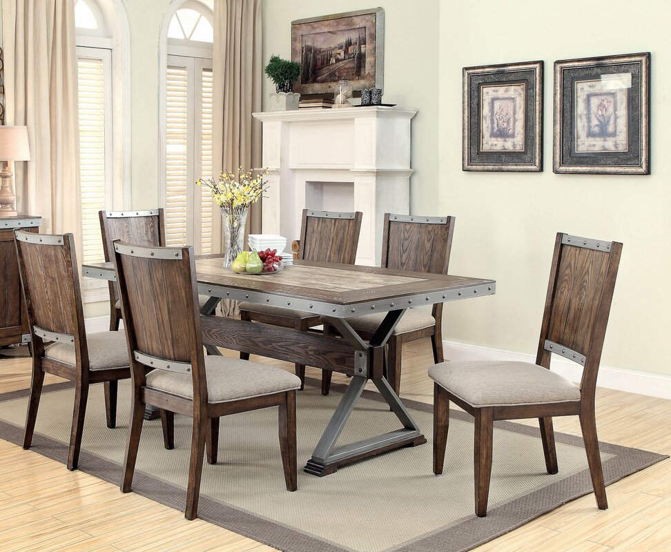dining room sets. Ferrand 7 Piece Dining Set Distressed Finish Kitchen  Room Sets You ll Love Wayfair