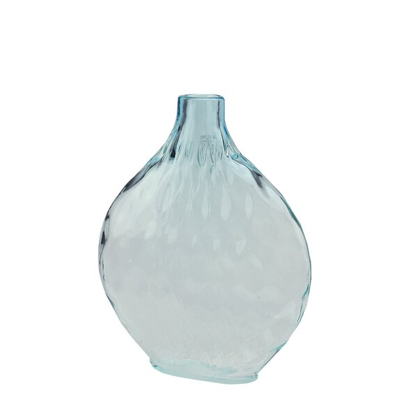 Disc Shaped Ombré Hand Blown Glass Vase by Northlight Seasonal