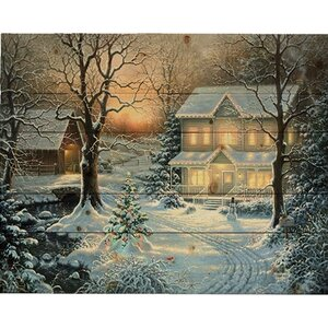 'Holiday Blessings (Christmas)' by Abraham Hunter Painting Print on Plaque by Hadley House Co
