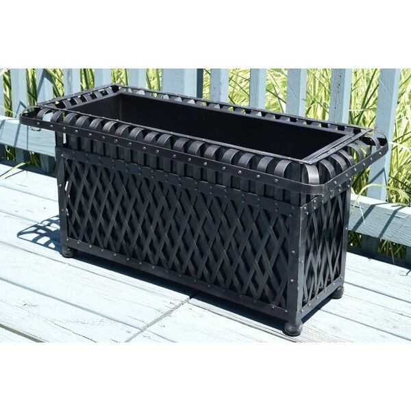 Lehto Rectangular Outdoor Metal Planter Box by Gracie Oaks
