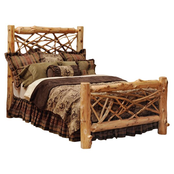 Traditional Cedar Log Standard Bed by Fireside Lodge