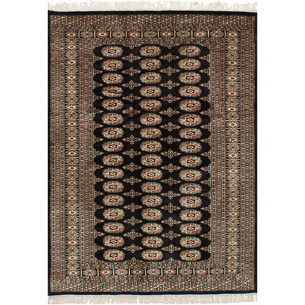 One-of-a-Kind Harsh Hand-Knotted Wool Dark Navy Area Rug by Isabelline