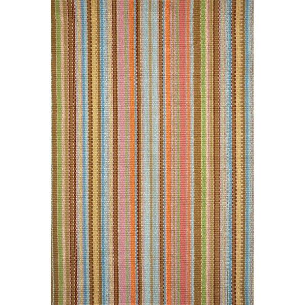 Zanzibar Striped Brown/Orange/Yellow Indoor / Outdoor Area Rug