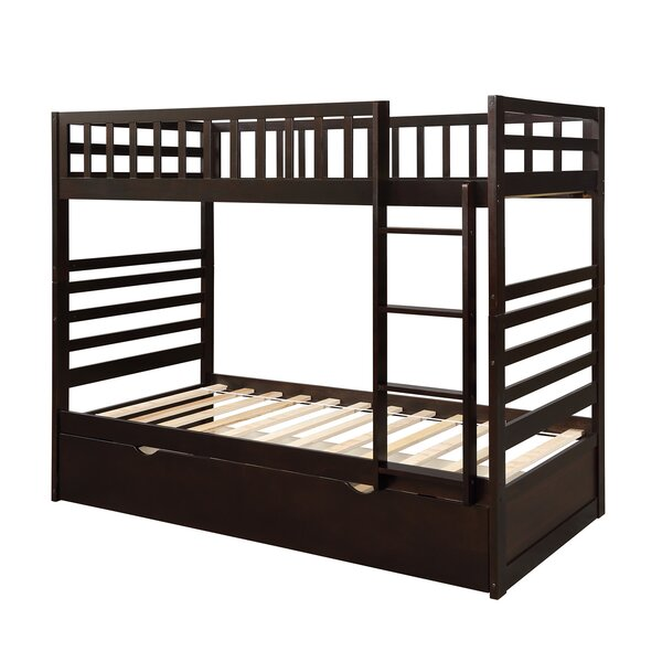 Chiara Twin over Twin Bunk Bed with Trundle by Harriet Bee