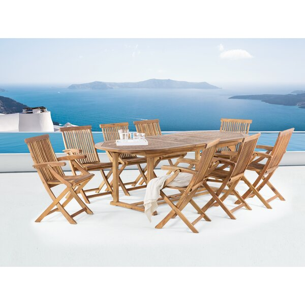 Java 9 Piece Outdoor Dining Set by Home Loft Concepts