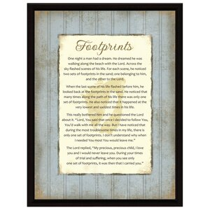 Simple Expressions Footprints Framed Textual Art by Dexsa