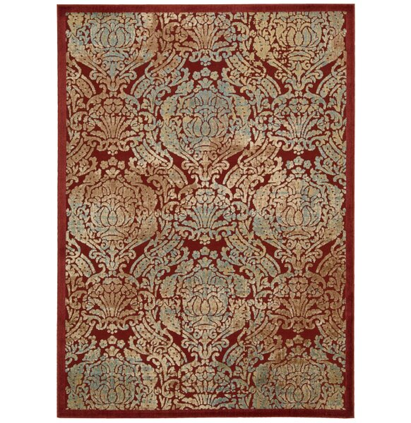 Driftwood Red Area Rug by Bloomsbury Market