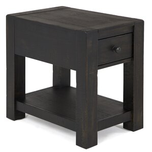 Graciela Rustic Wood End Table by 17 Stories
