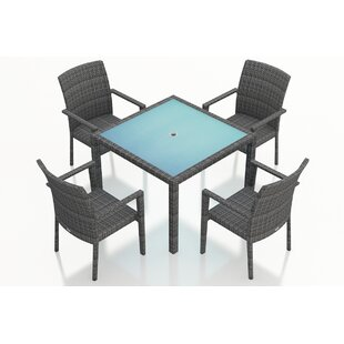 Hobbs 5 Piece Sunbrella Dining Set By Rosecliff Heights