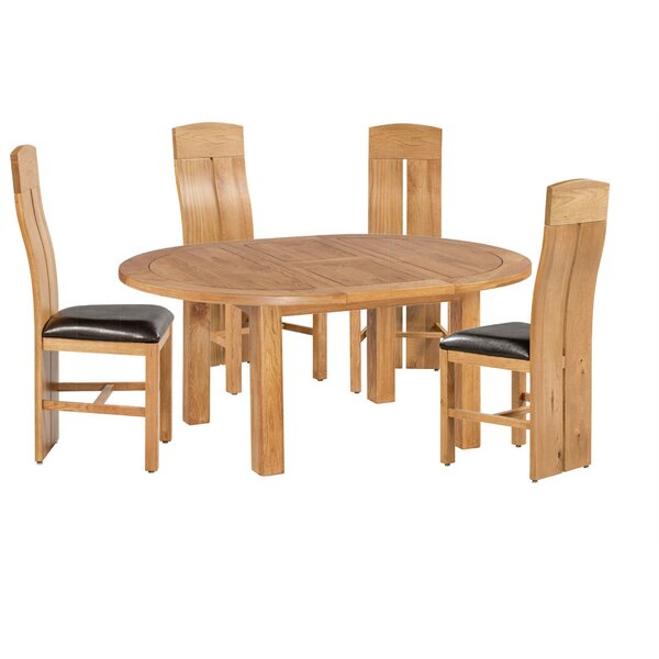Kiazolu 5 Piece Extendable Breakfast Nook Dining Set by Loon Peak