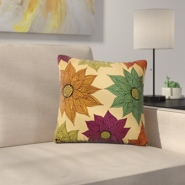 Color Me Floral by Pom Graphic Design Outdoor Throw Pillow by East Urban Home