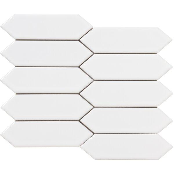 Elixir 2 x 4 Porcelain Mosaic Tile in White by Emser Tile