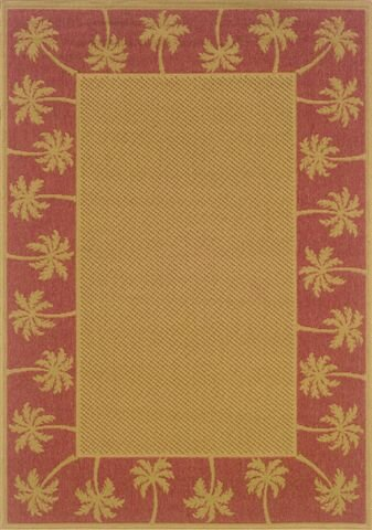 Goldenrod Beige/Red Indoor/Outdoor Area Rug by Bay Isle Home