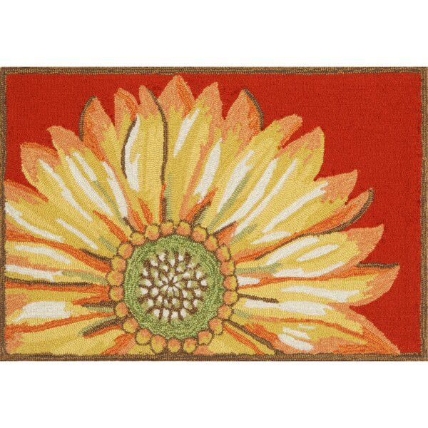Ismay Sunflower Red Indoor/Outdoor Area Rug by August Grove