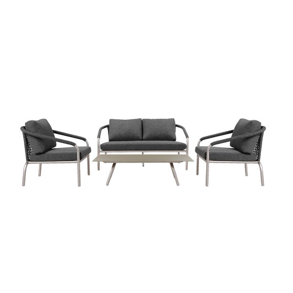 Savitsky 4 Piece Sofa Seating Group with Cushions by Brayden Studio