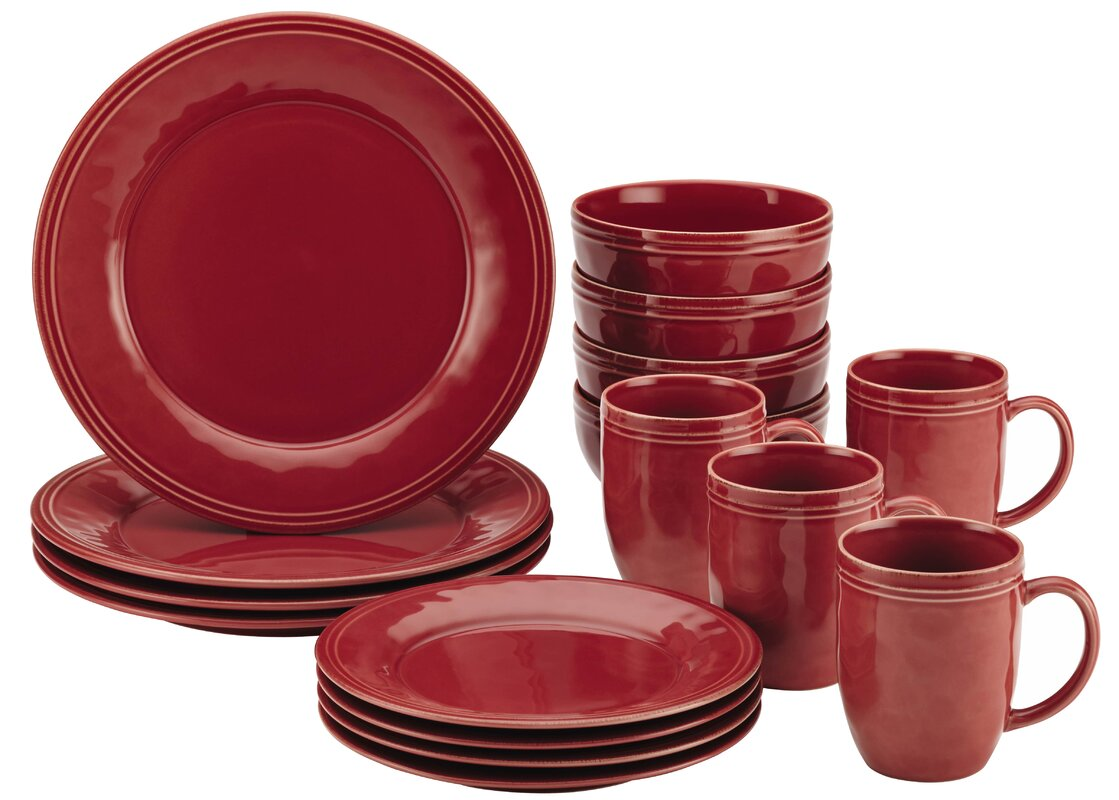 Cucina 16 Piece Dinnerware Set, Svc for 4