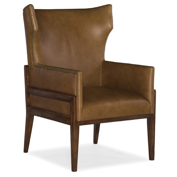 Burrell Leather Wingback Chair by Hooker Furniture