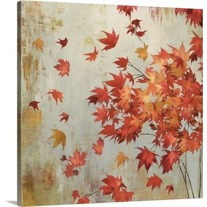 Crimson Foliage by Asia Jensen Painting Print on Wrapped Canvas by Great Big Canvas
