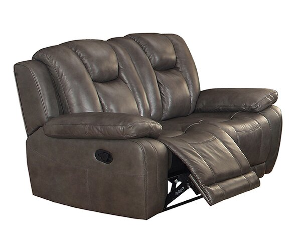 Fleetwood Leather Reclining Loveseat by Coja