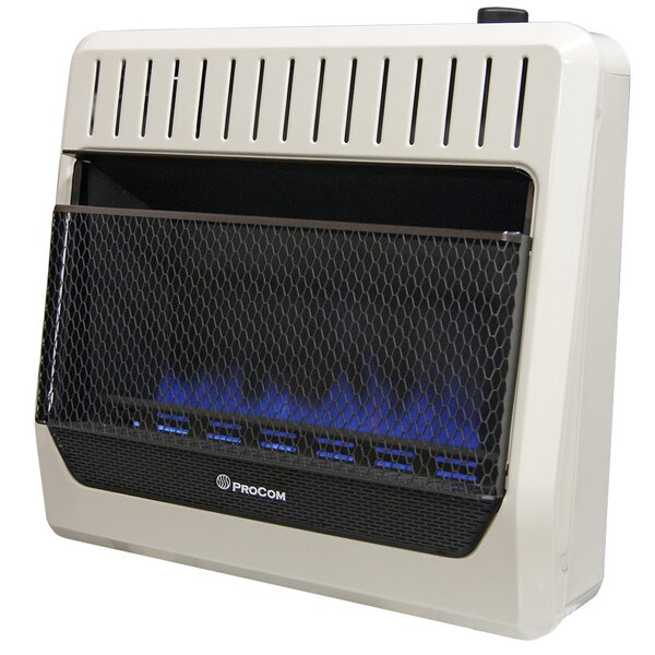 Heating Ventless Dual Fuel Flame Natural Gas And Propane Infrared Wall Mounted Heater With Automatic Thermostat By ProCom