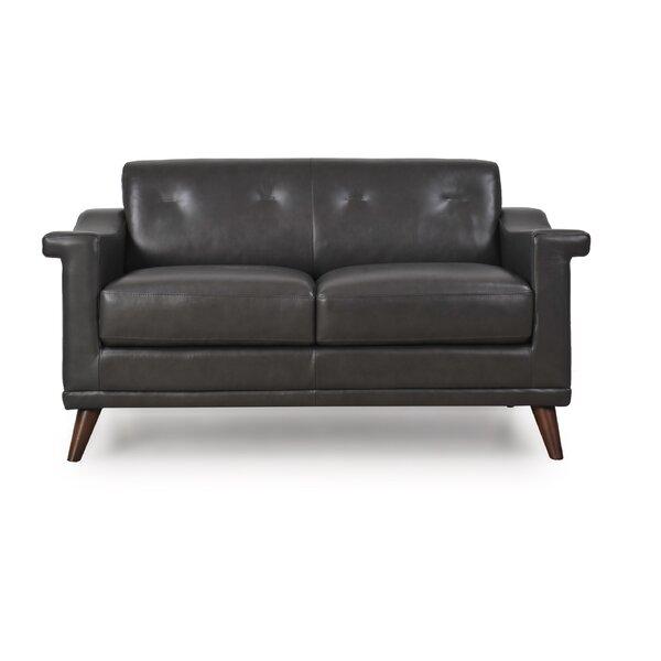 Shop Affordable Lapierre Leather Loveseat by Brayden Studio by Brayden Studio