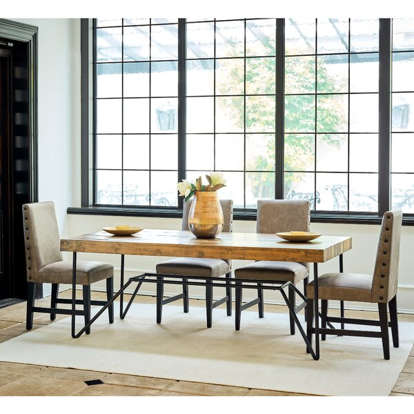 Stapp 5 Piece Solid Wood Dining Set by Union Rustic Union Rustic