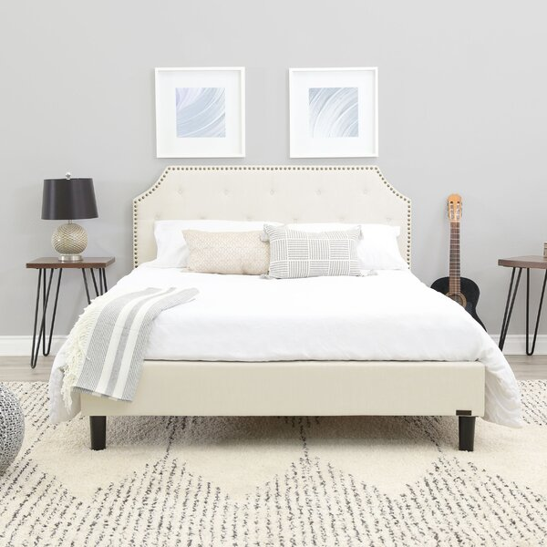 Finney Upholstered Bed by Alcott Hill