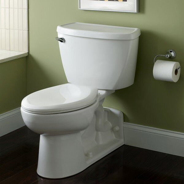 Yorkville Pressure Assisted 1.6 GPF Elongated Two-Piece Toilet by American Standard